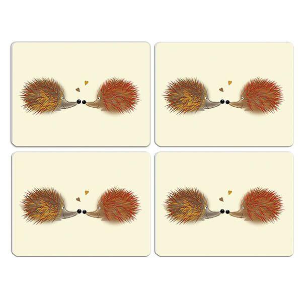 Melamaster Moulded Pack Of 4 Placemat Hedgehog