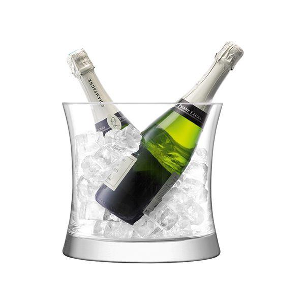 LSA Moya Dual Champagne Bucket 24cm Clear