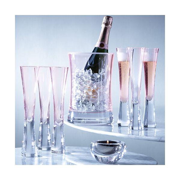 LSA Moya Blush Champagne Flute 170ml Set Of Two