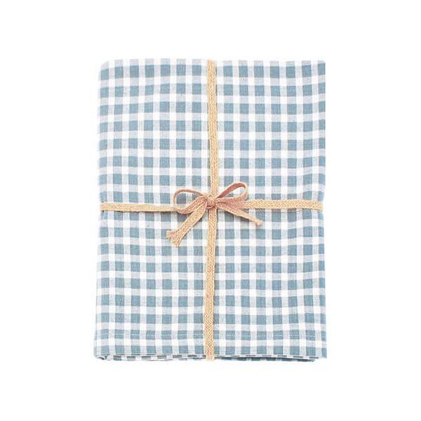 Walton & Co Portland Check Tablecloth Blue Cedar 130x180cm