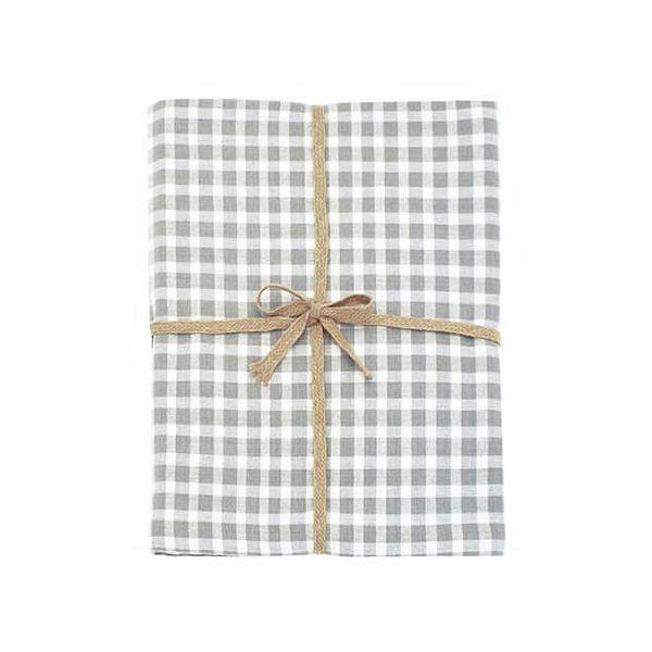 Walton & Co Portland Check Tablecloth Dove Grey 130x180cm