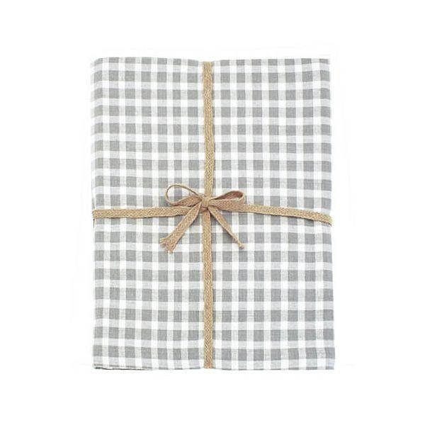 Walton & Co Portland Check Tablecloth Dove Grey 130x230cm
