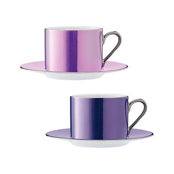 LSA Polka Pastel Tea Cup & Saucer 250ml Set Of Four