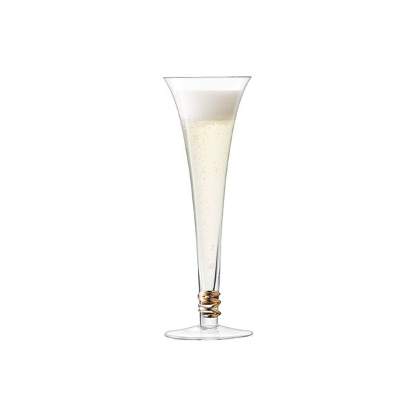 LSA Prosecco Flute 140ml Gold Set Of 4