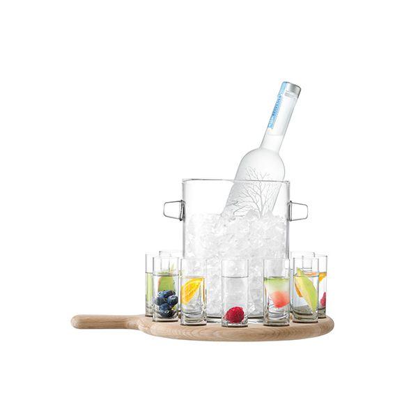 LSA Paddle Vodka Serving Set & Oak Paddle Clear