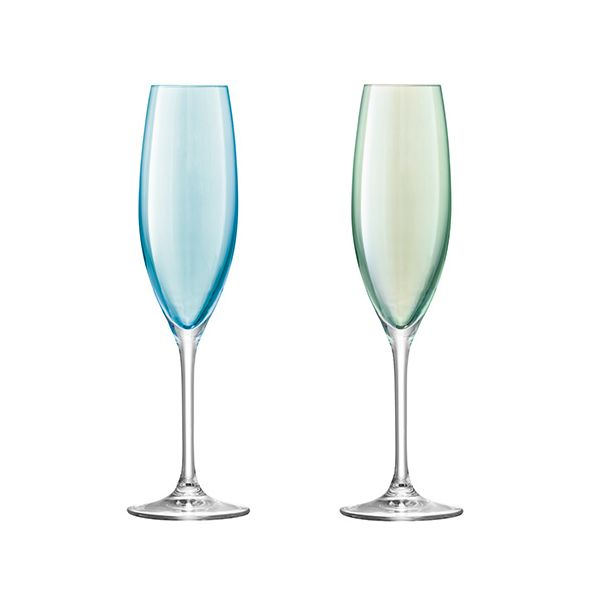 LSA Polka Pastel Champagne Flute 225ml Set Of Four