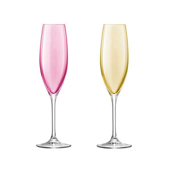 LSA Polka Pastel Champagne Flute 225ml Set Of Four
