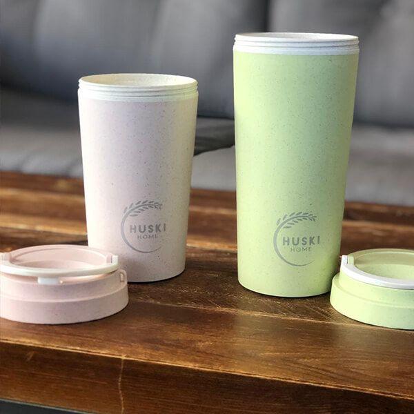 Huski Home Rice Husk Travel Cup Pastel Green 500ml