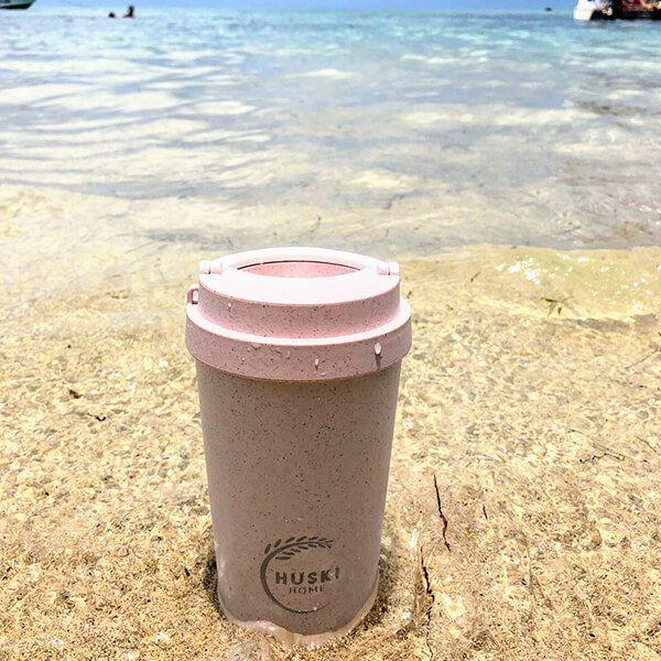 Huski Home Rice Husk Travel Cup Pastel Pink 500ml