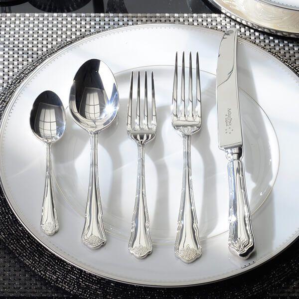 Arthur Price of England Sovereign Silver Plate Ritz 24 Piece Cutlery Box Set