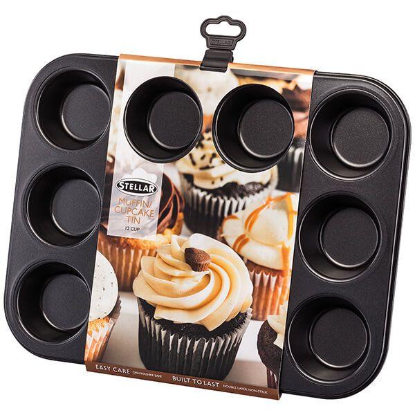 Stellar Bakeware 12 Cup Muffin Pan