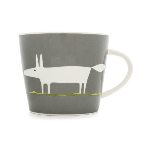 Scion Living Mr Fox Charcoal & Lime 350ml Mug
