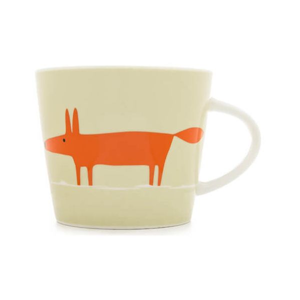 Scion Living Mr Fox Neutral & Orange 350ml Mug