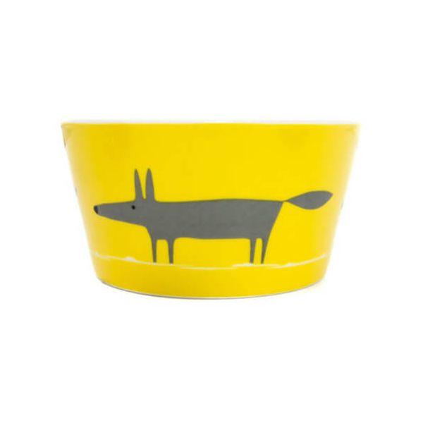 Scion Living Mr Fox Yellow & Charcoal Bowl