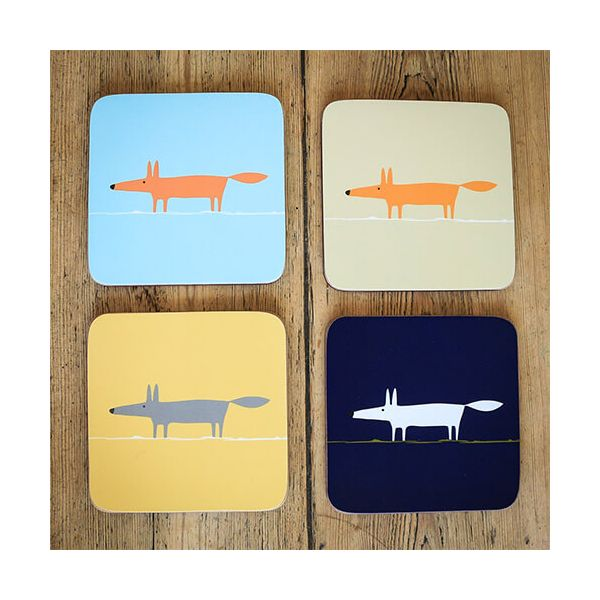 Scion Living Mr Fox Set Of 4 Coasters