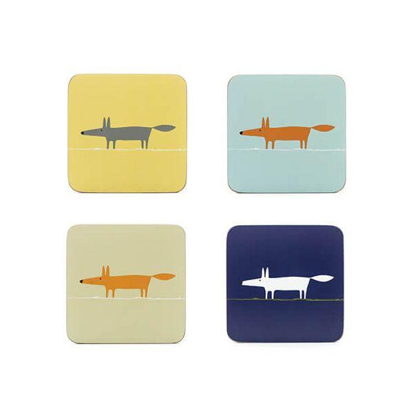 Scion Living Mr Fox Set Of 4 Coasters