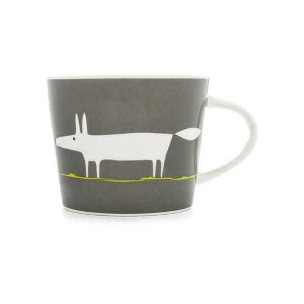 Scion Living Mr Fox Charcoal & Lime 250ml Mini Mug
