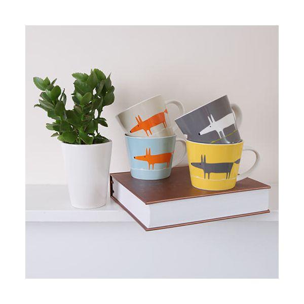 Scion Living Mr Fox Yellow & Charcoal 525ml Large Mug