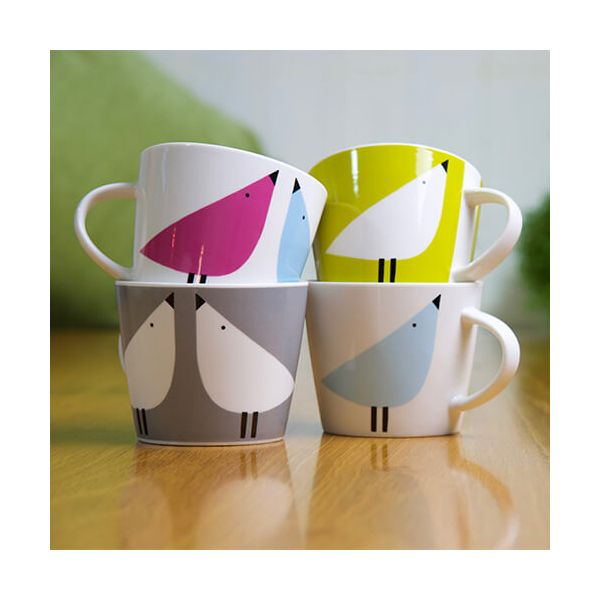 Scion Living Lintu Sky, Rhubarb & Dandelion 350ml Mug