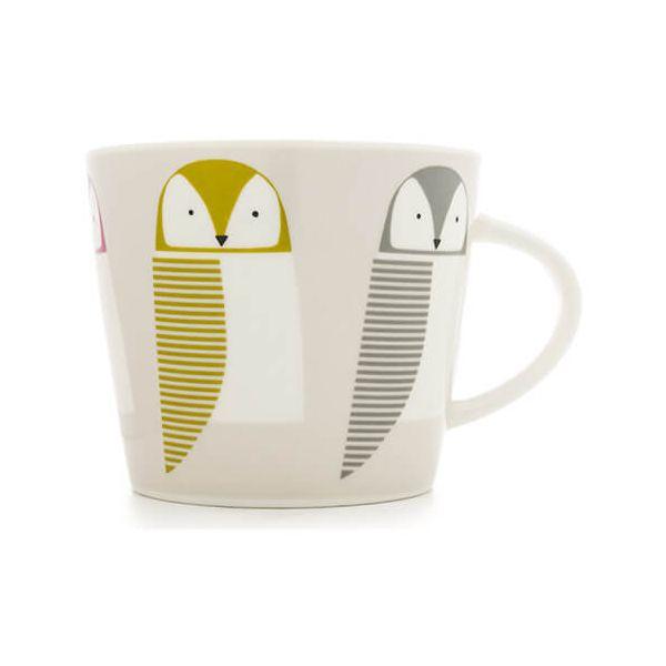 Scion Living Barnie Owl Rhubarb, Dandelion & Slate 350ml Mug