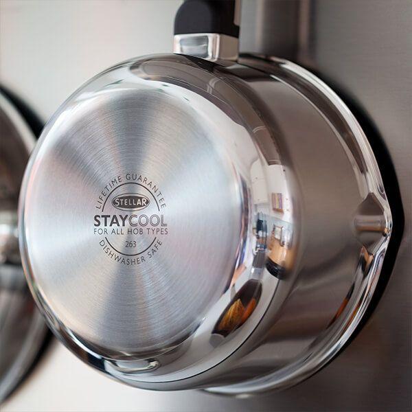 Stellar Stay Cool 16cm Draining Saucepan 1.1L