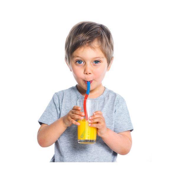 Fred Slinky Drinks Worm  Drinks Straws