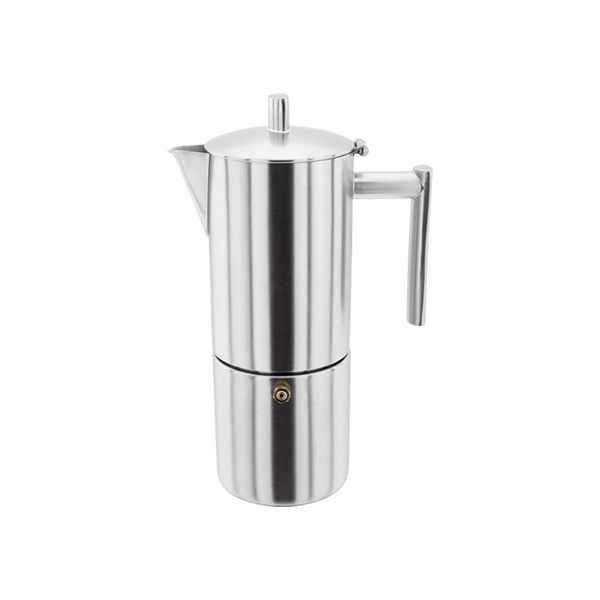 Stellar 6 Cup Espresso Maker Matt Stainless Steel