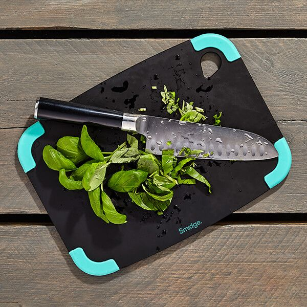 Smidge Slice Chopping Board 29 x 22 x 0.6cm Slate & Aqua