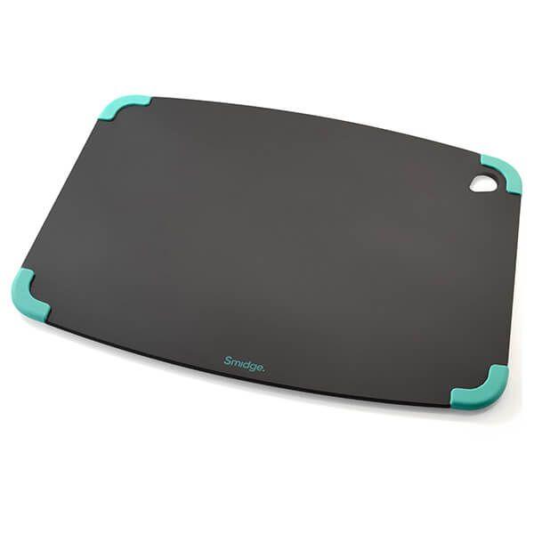 Smidge Slice Chopping Board 44 x 32 x 0.6cm Slate & Aqua