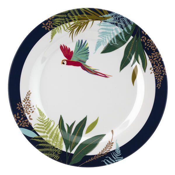 Sara Miller Parrot 20cm Melamine Side Plate