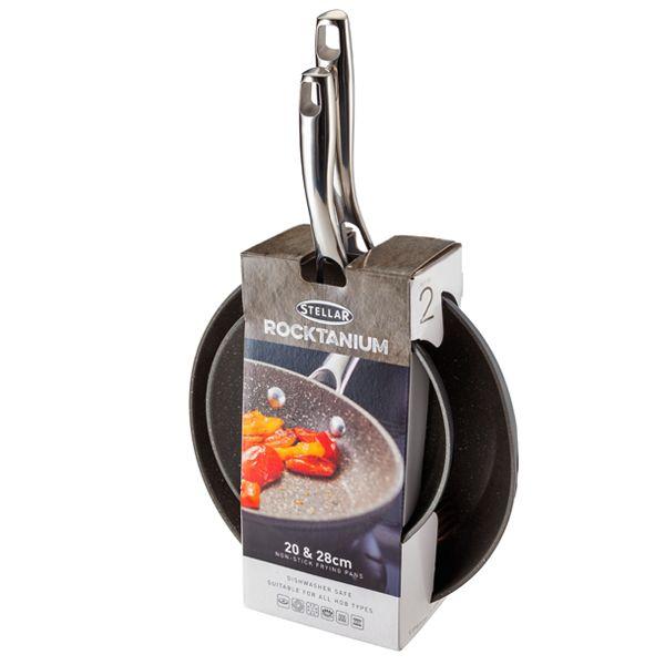 Stellar Rocktanium Twin Frying Pan Set