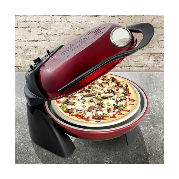 Smart Rotating Stone & Grill Pizza Oven Red