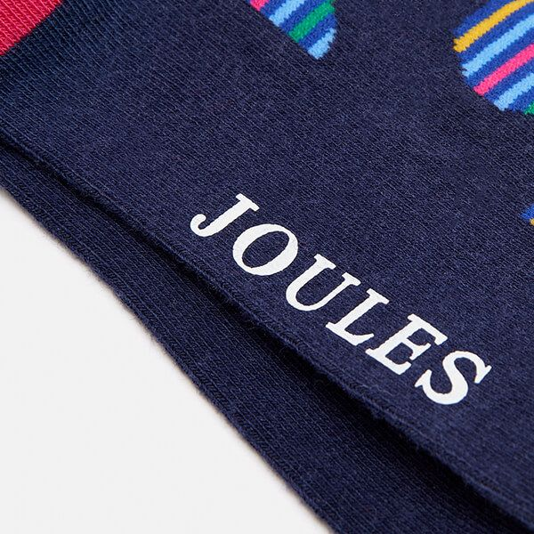 Joules Striking Stripe Spot Socks 7-12