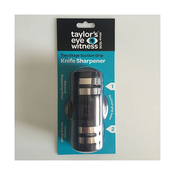 Taylors Eye Witness Two Stage Suction Grip Knife Sharpener