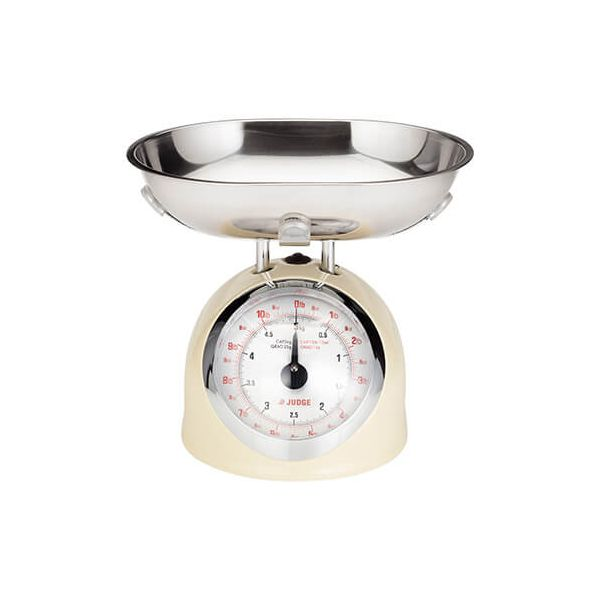 Judge 5kg Traditional Scale Cream