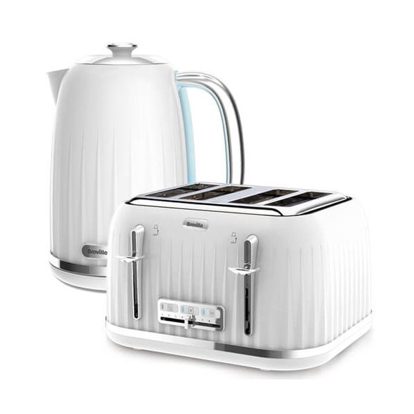 Breville Impressions Kettle & Toaster Set White