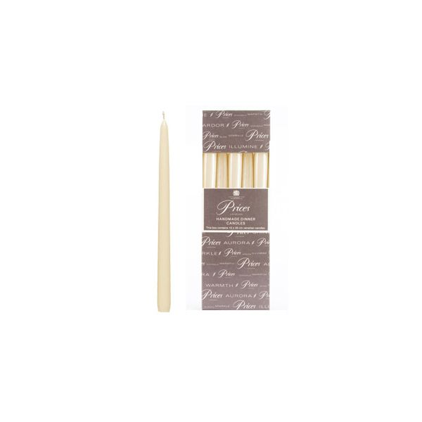 Prices Venetian 10 inch Dinner Candle Pack Of 10 Ivory