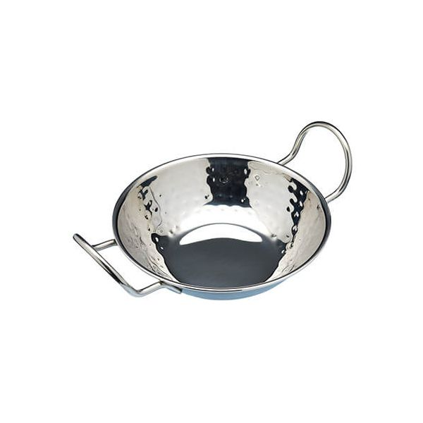World Of Flavours Stainless Steel Balti Dish, 17cm