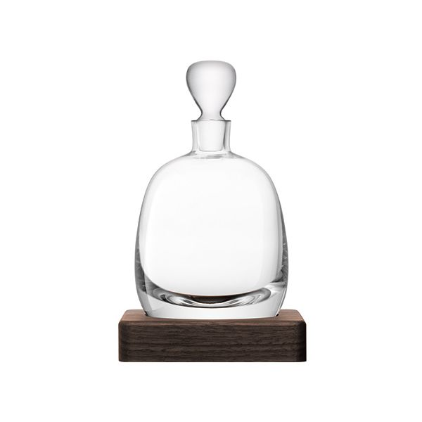 LSA Whisky Islay Decanter 1L Clear & Walnut Base