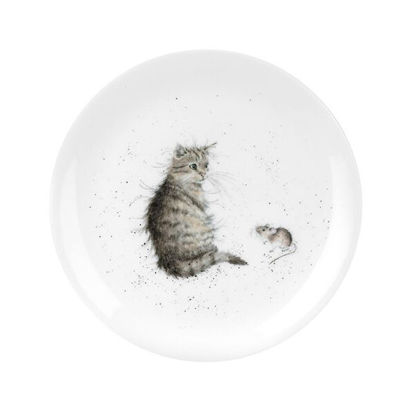 Wrendale Designs Coupe Plate Cat & Mouse