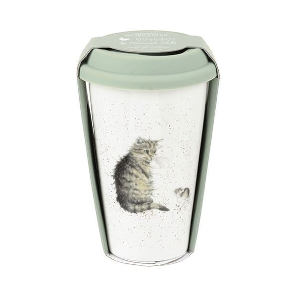 Wrendale Designs Travel Mug Cat & Mouse 6 for 5