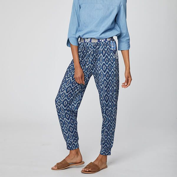 Thought Ocean Blue Polynesia Trousers Size 8