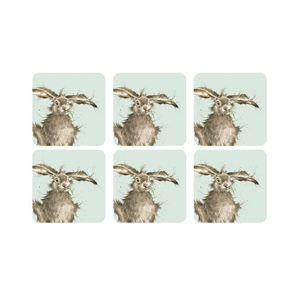 Wrendale Designs Hare Coasters Set Of 6