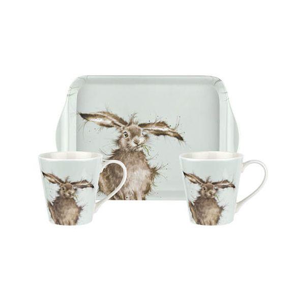 Wrendale Designs Mug & Tray Set Hare 6 for 5