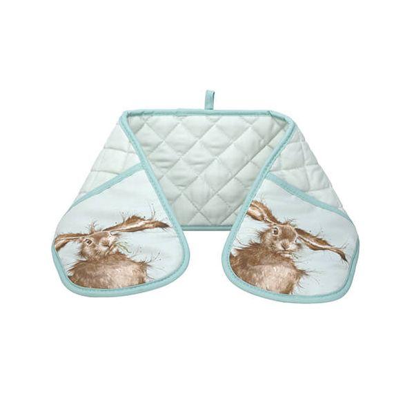 Wrendale Designs Double Oven Glove Hare Design
