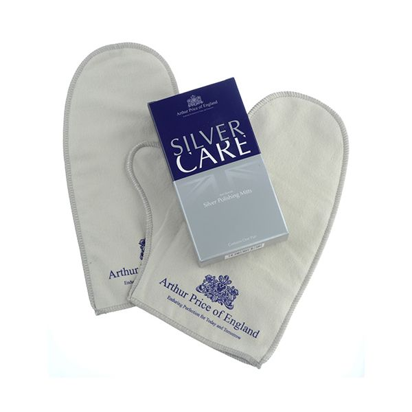 Arthur Price Silver-Care Pair Of Impregnated Silver Polishing Mitts