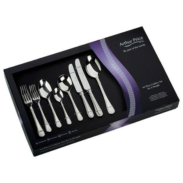 Arthur Price Classic Bead 44 Piece Cutlery Set Plus FREE 27 Pieces
