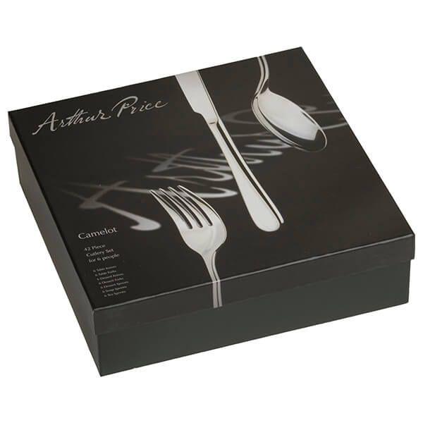 Arthur Price Signature Camelot 42 Piece Cutlery Box Set plus FREE Set of 6 Tea Spoons