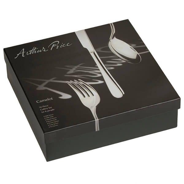 Arthur Price Signature Camelot 56 Piece Cutlery Box Set plus FREE Set of 8 Tea Spoons