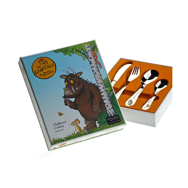 Arthur Price The Gruffalo 4 Piece Childrens Cutlery Set